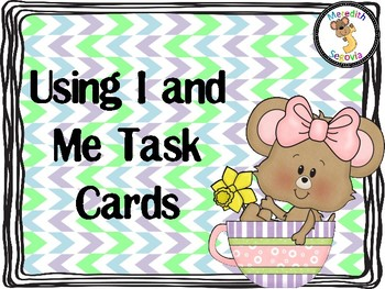 Using I and Me Task Cards