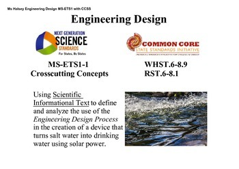 Informational Text to analyze Engineering Design Process MS-ETS1-1 (Editable)