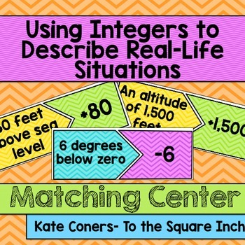 Using Integers to Describe Real Life Situations Center