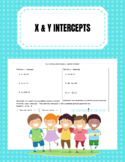 Using Intercepts Game Board
