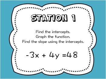 Using Intercepts: Stations Activity