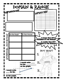 Interval Notation Domain And Range Worksheets & Teaching Resources | TpT