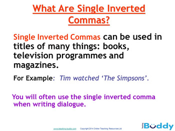 Using Inverted Commas