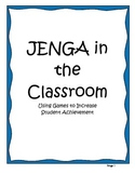 Using Jenga in the Classroom