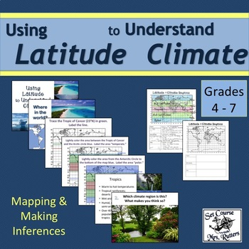 Using Latitude to Understand Climate; slideshow; lesson plan; notepage