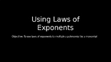 Using Laws of Exponents - PowerPoint Lesson (3.2)