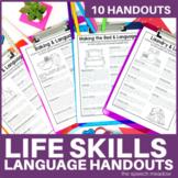 Life Skills and Language Development   Parent Handouts