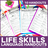 Life Skills and Language Development | Parent Handouts | D