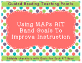 Using MAPs RIT Band Goals for Differentiation and Guided Reading Teaching Points