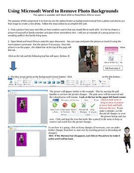 Using MSWord to Remove Photo Backgrounds