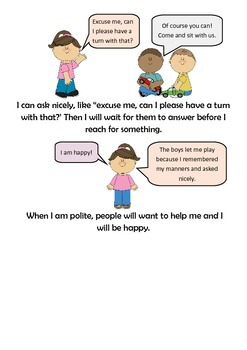 Using Manners Social Story