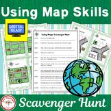 Using Map Skills Scavenger Hunt
