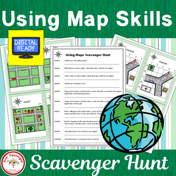 Using Map Skills Scavenger Hunt