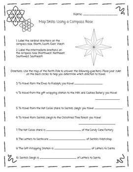 Using Map Skills at the North Pole! (Compass Rose and Map Scale)