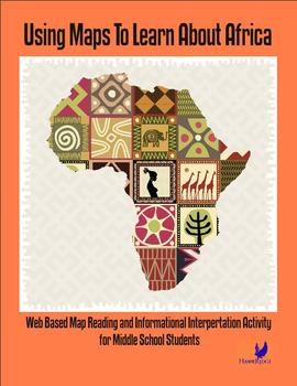 Africa Geography with Maps Middle School Interactive Worksheet Unit