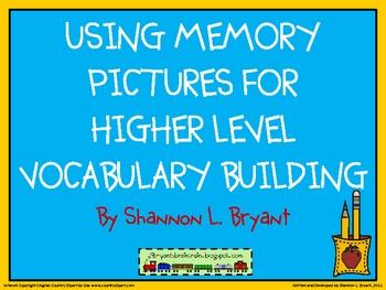 Higher Level Vocabulary Building Using Memory Pictures (SAT Vocab)