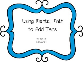 Using Mental Math to Add Tens - First Grade enVision Math