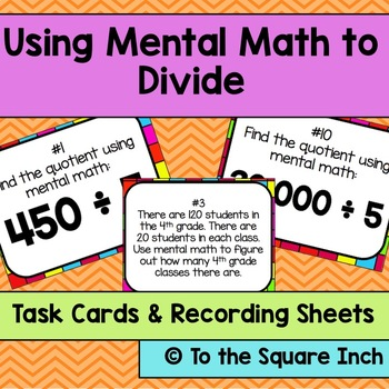 Using Mental Math to Divide Task Cards