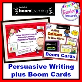 PERSUASIVE WRITING PROMPTS plus BOOM CARDS SUFFIXES DIGITAL TASK CARDS