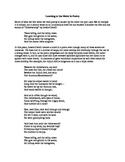 Using Meter in Poetry