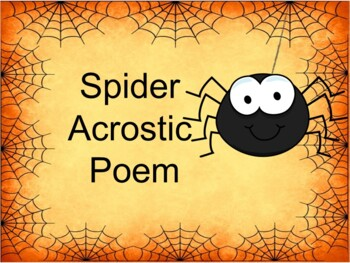 Using Microsoft Word to create a Spider Acrostic Poem