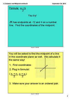 Using Midpoint and Distance in Coordinate Geometry Mini Lesson