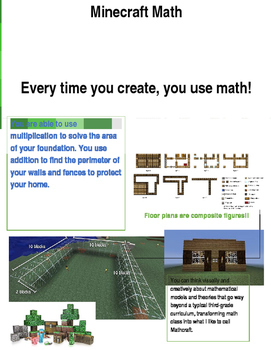 Using Minecraft to teach Area and Perimeter