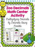 Using Models: Multiplying Decimals by Decimals Math Center Activity