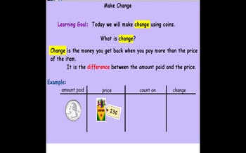 Using Money Flip Chart