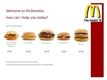 Using Money at McDonalds