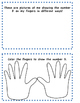 Using My Body to Count - Printable Workbook : Count, Measure, Describe