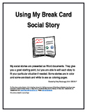 Using My Break Card, A Social Story