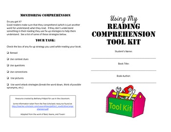 Using My Comprehension Toolkit