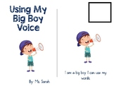 Using My Voice Social Story