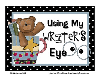 Using My Writer's Eye: I SEE Posters (Bears)