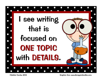 Using My Writer's Eye: I SEE Posters (Kids)