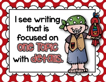 Using My Writer's Eye: I SEE Posters - Pirates II