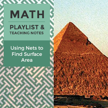 Using Nets to Find Surface Area - Playlist and Teaching Notes