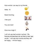 Using Nice Words - Social Story