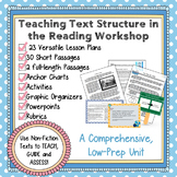 Non-Fiction Text Structure Reading Workshop Unit, Lesson Plans and  Assessments