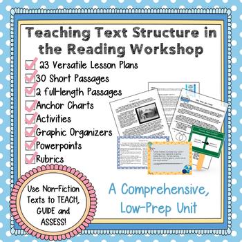 Non-Fiction Text Structure Reading Workshop Unit, Lesson Plans and  Assessments
