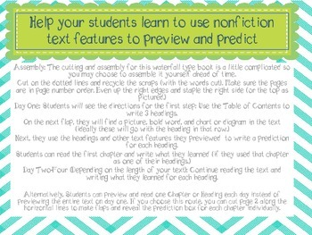Using Nonfiction Text Features to Preview and Predict