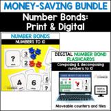 Number Combinations: Number Bonds Bundle, Print and Digital