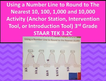 3.2C Using Number Line to Round to Nearest 10, 100, 1,000 & 10,000 Activity