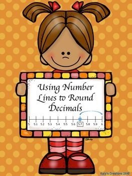 Using Number Lines to Round Decimals (Nearest tenth, hundr