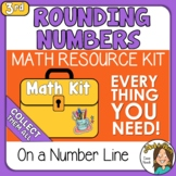 Rounding Numbers Using Number Lines 3rd - 4th Grade  Math Kit