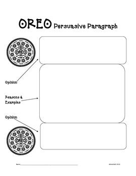 Using OREO to Write Persuasive Paragraphs