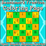 Using One Half as a Benchmark Fraction:  Coloring Page
