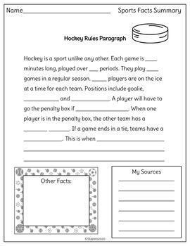 Using Online Resources to Complete Cloze Paragraphs: Sports Theme