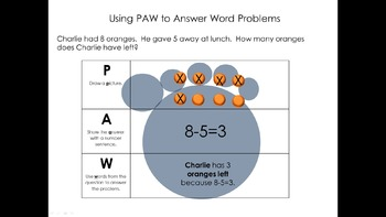 Using PAW to Solve Word Problems